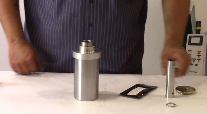 cap tool on cylinder-web