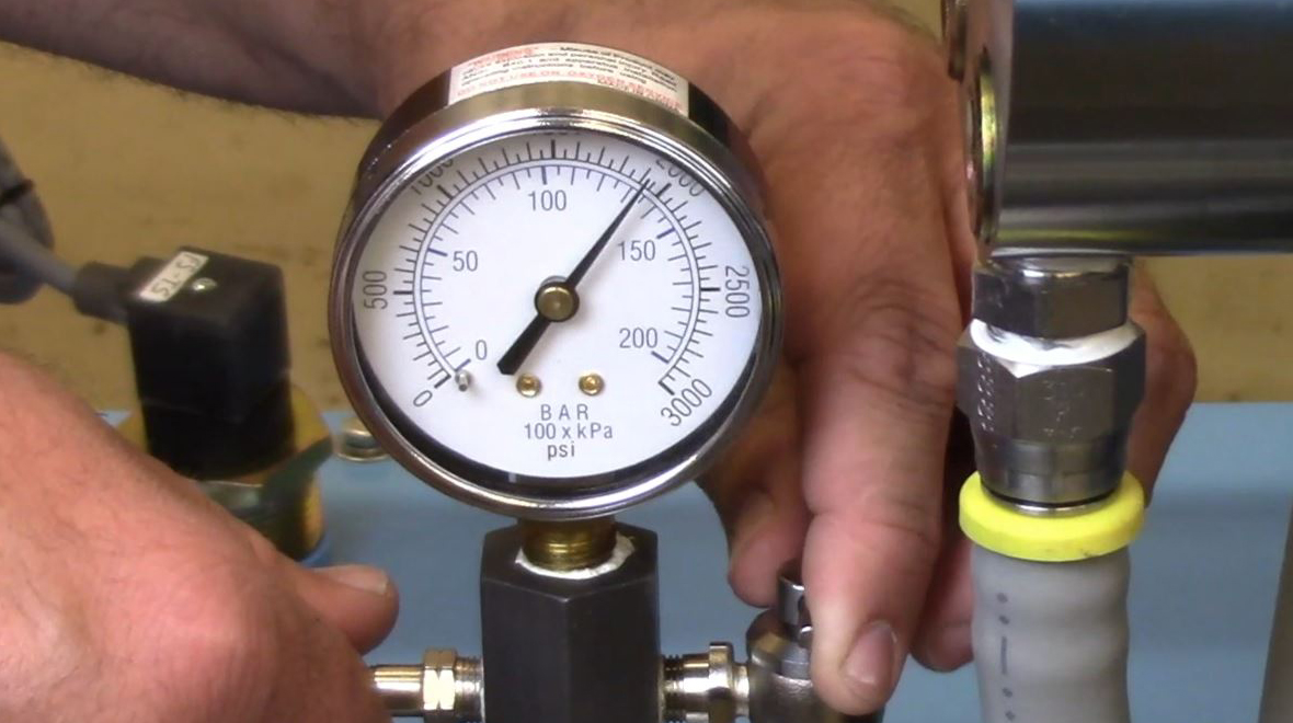 Water jet pump maintenance pressure check, Jet Edge