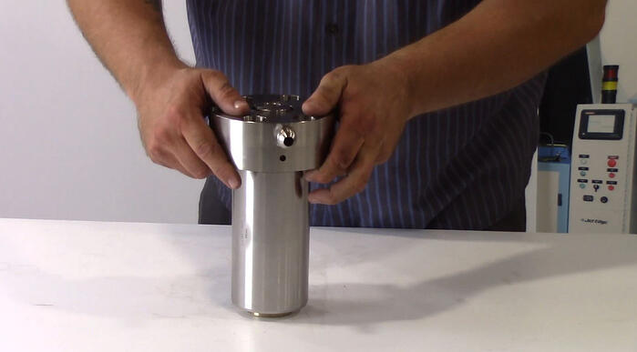 endcap onto cylinder and check tube-web