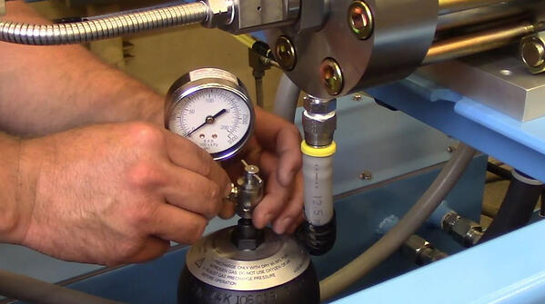 Water jet pump maintenance actuator placement, Jet Edge
