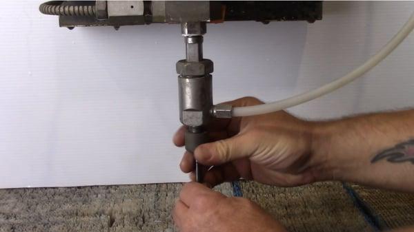 remove nozzle abrasive