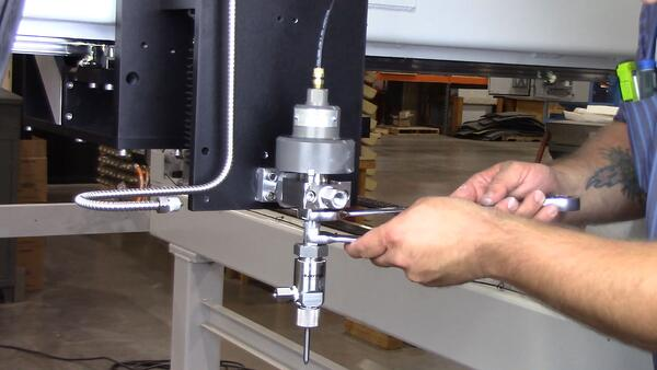wrenches into valve body